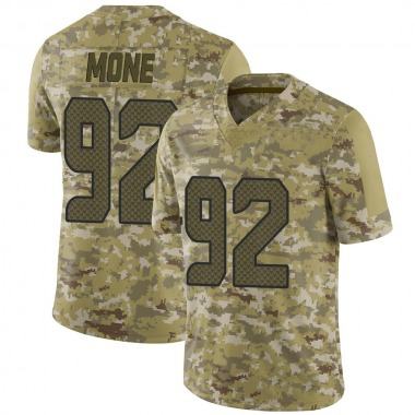 Men's Nike Seattle Seahawks Bryan Mone 2018 Salute to Service Jersey - Camo Limited