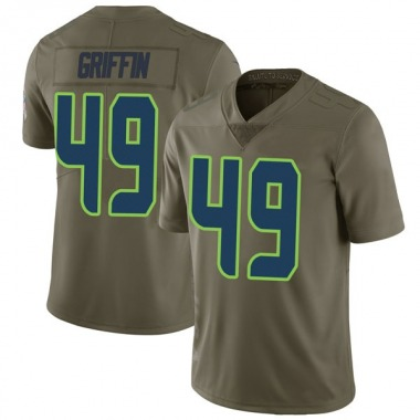 Men's Nike Seattle Seahawks Shaquem Griffin 2017 Salute to Service Jersey - Green Limited