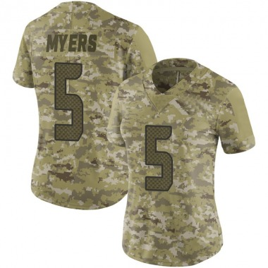 Women's Nike Seattle Seahawks Jason Myers 2018 Salute to Service Jersey - Camo Limited