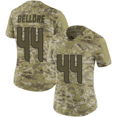 Women's Nike Seattle Seahawks Nick Bellore 2018 Salute to Service Jersey - Camo Limited