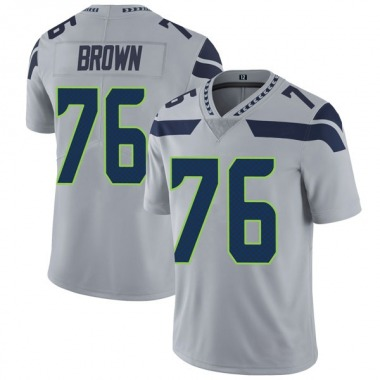 Youth Nike Seattle Seahawks Duane Brown Alternate Vapor Untouchable Jersey - Gray Limited