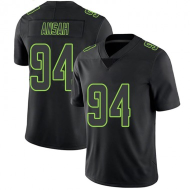 Youth Nike Seattle Seahawks Ezekiel Ansah Jersey - Black Impact Limited