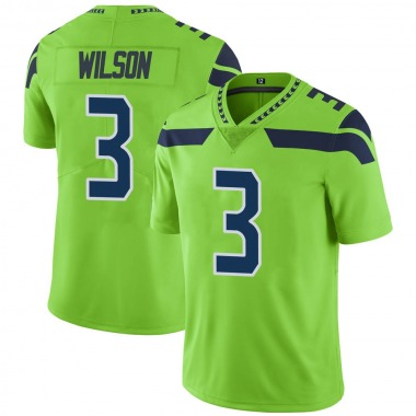 Youth Nike Seattle Seahawks Russell Wilson Color Rush Neon Jersey - Green Limited
