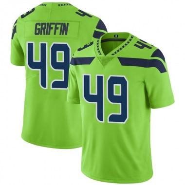 Youth Nike Seattle Seahawks Shaquem Griffin Color Rush Neon Jersey - Green Limited